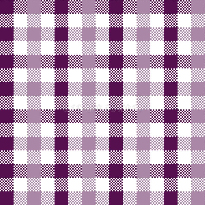 Violet Gingham-Muster stock abbildung