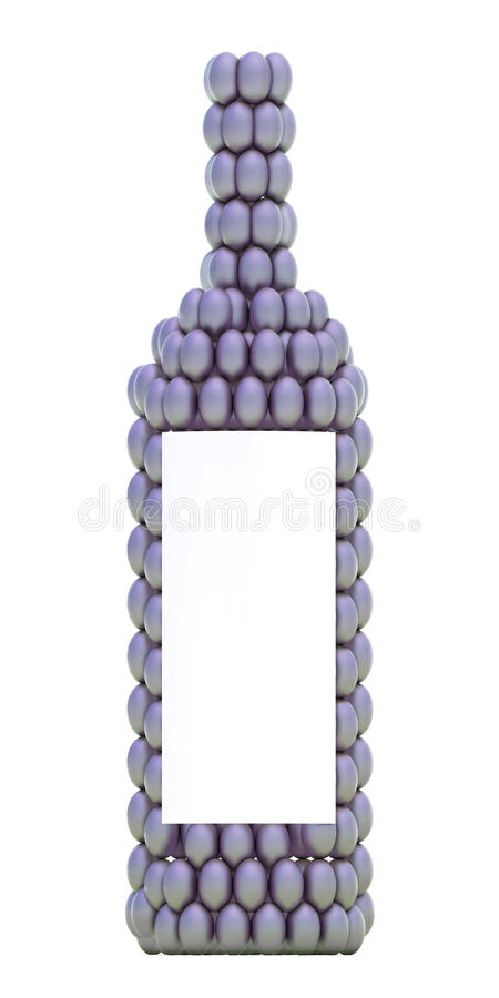 Download Violet Grape Bottle With White Label Stock Illustration - Image: 15172628
