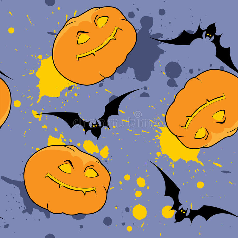Violet  Halloween Pattern Royalty Free Stock Photography