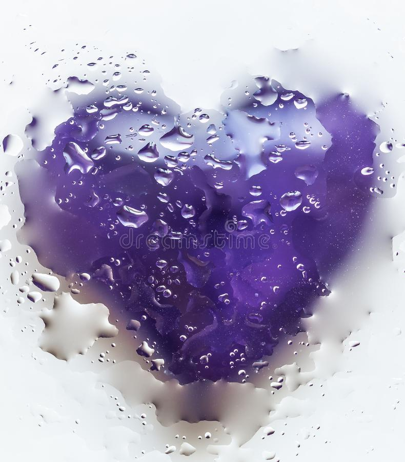 Violet Heart Isolated On White-Achtergrond 1 stock fotografie