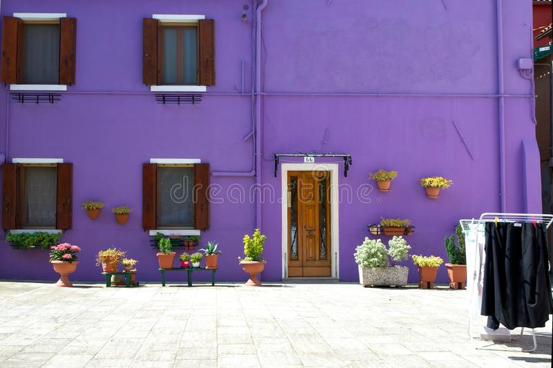 Violet House in Venice stock photos