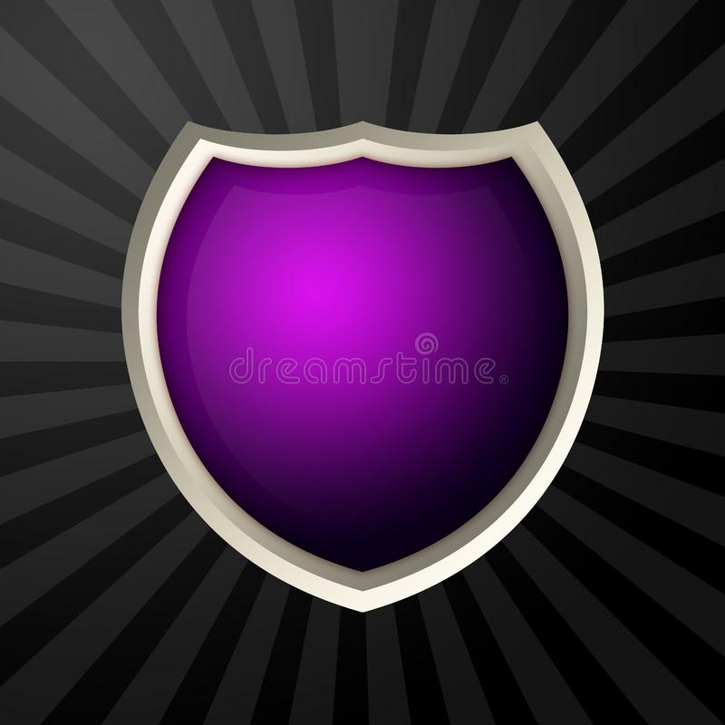 Violet icon royalty free stock image