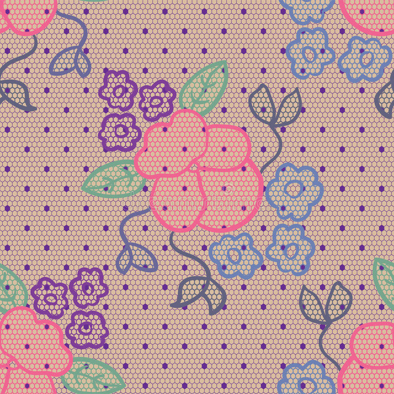 Download Violet Lace Vector Fabric Seamless Pattern Stock Vector - Illustration: 24915442