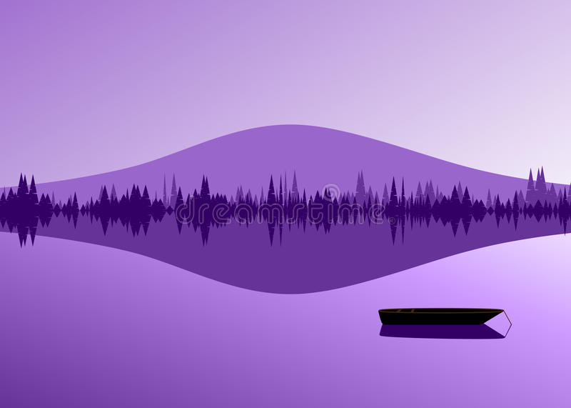 Violet landschap stock illustratie