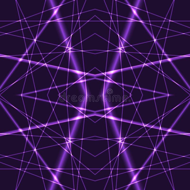 Violet Laser Beams Seamless Background illustration libre de droits