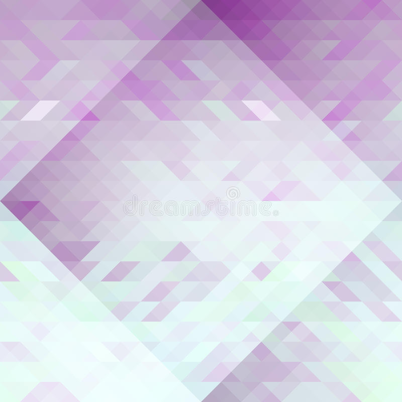Violet and light blue triangles abstraction geometric seamless pattern. Vector stock illustration