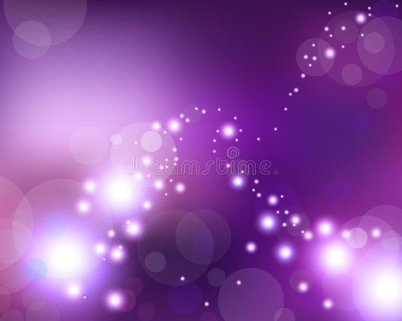 Violet light stars. And space stock illustration