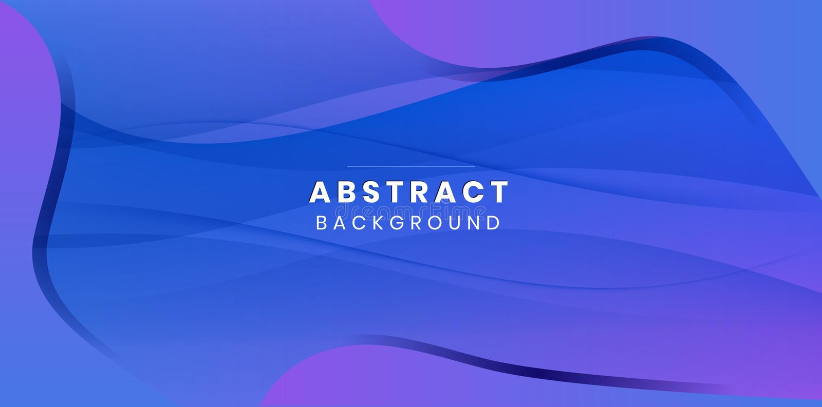 Violet Light Wave Abstract Background stock illustration