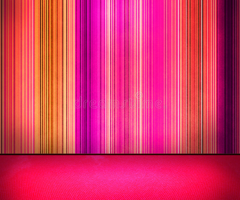 Violet Lines on the Wall Interior royalty free stock image
