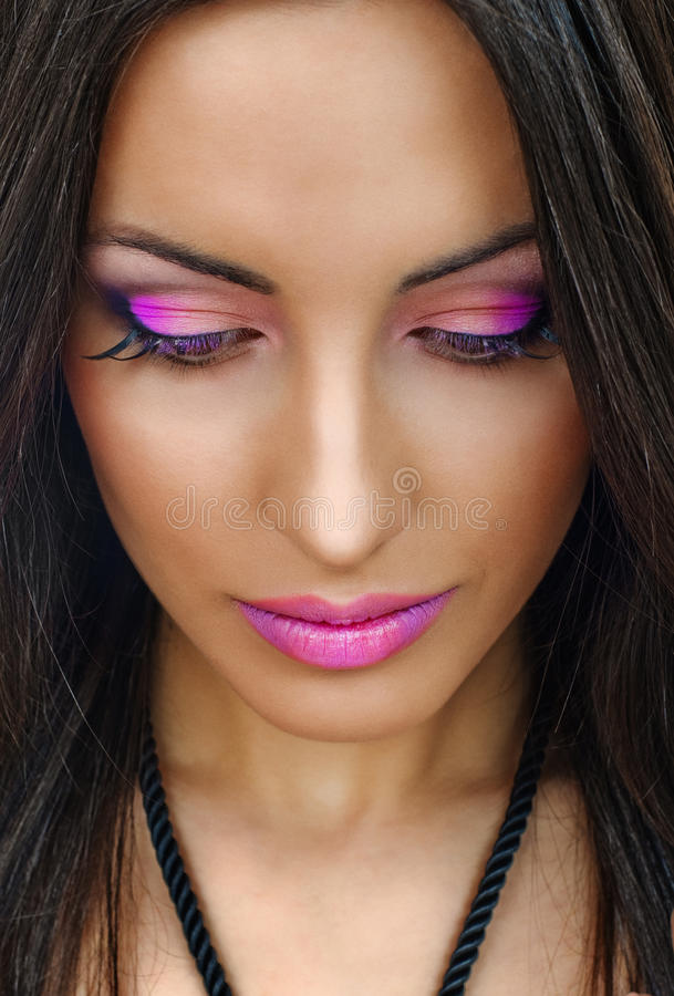 Free Violet Lips And Eyelids Stock Photography - 19216612