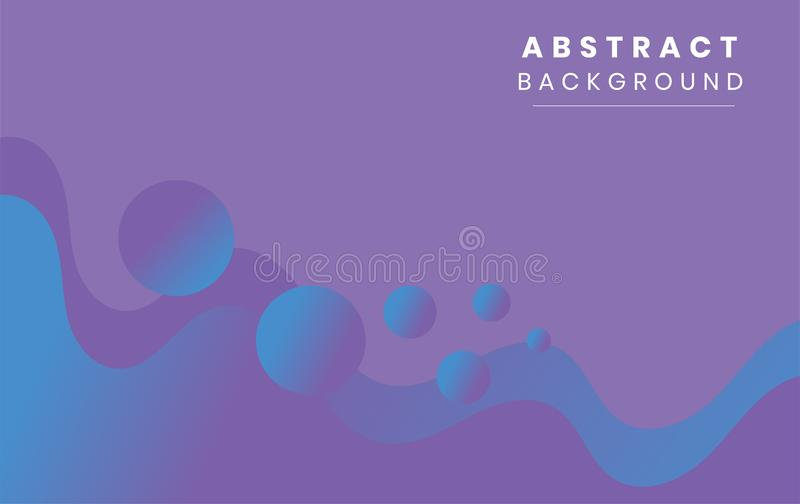 Violet Liquid Wave Abstract Background design vector illustration