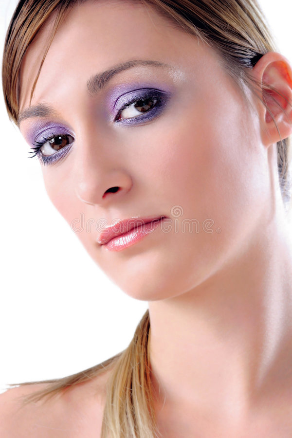 Violet look royalty free stock photography