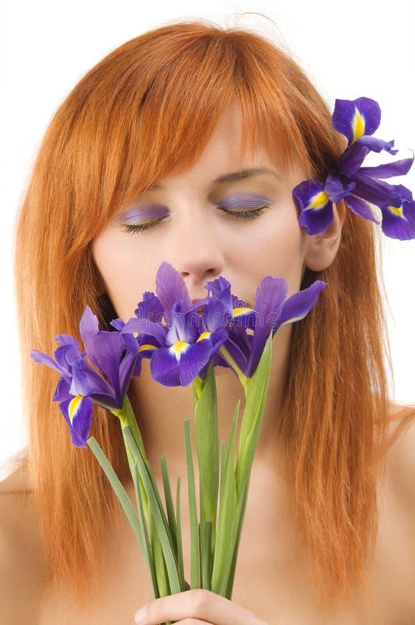Violet make up stock images