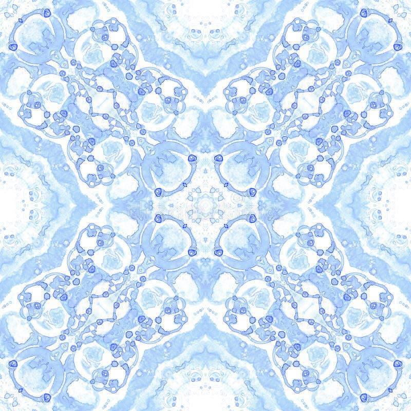 Violet naadloos patroon Aantrekkelijke gevoelige zeepbels Kanthand getrokken textielornament Kaleidos stock illustratie