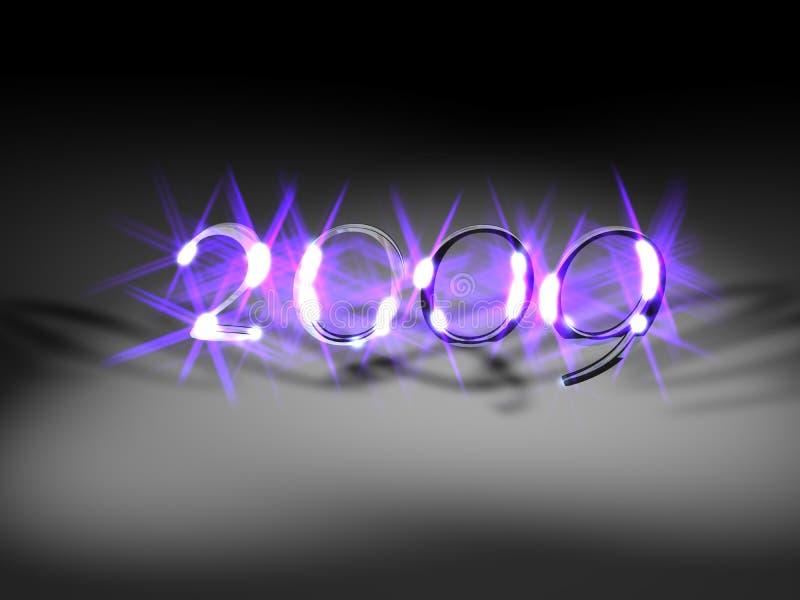 Violet nieuw jaar 2009 vector illustratie