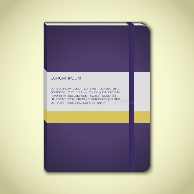 Violet notitieboekje met referentie stock illustratie