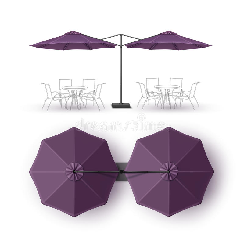 Free Violet Outdoor Beach Cafe Lounge Restaurant Umbrella Mock Up Isolated Stock Images - 80722424