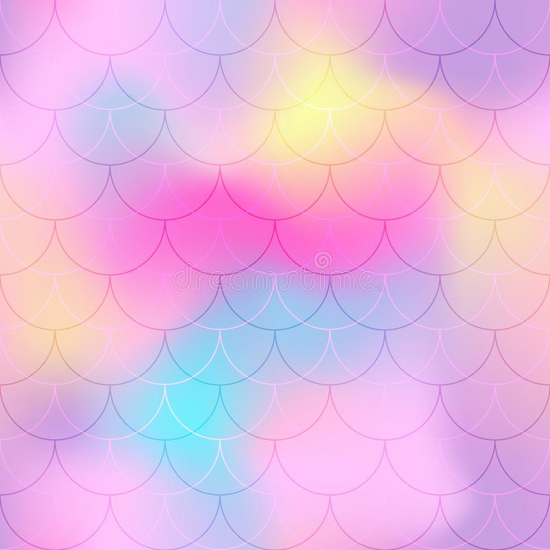 Violet pink mermaid scale background. Pastel iridescent background. Fish scale pattern. vector illustration