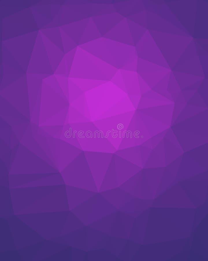 Violet Poligon Vertical Background ilustração do vetor