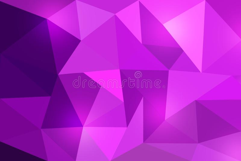 Violet Polygonal Texture for Abstract Background. Abstract image of purple and violet polygonal pattern for web background, banner, template or poster royalty free stock photos