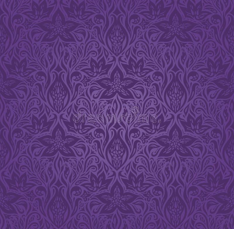 Violet purper uitstekend naadloos patroon royalty-vrije illustratie