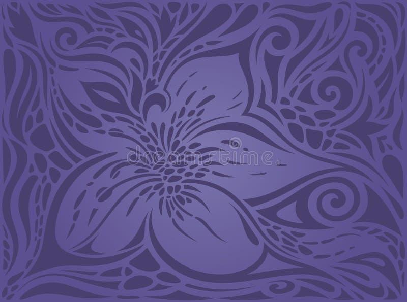 Violet purper van het Achtergrond bloemen uitstekend naadloos patroon Bloemen in manierontwerp stock illustratie