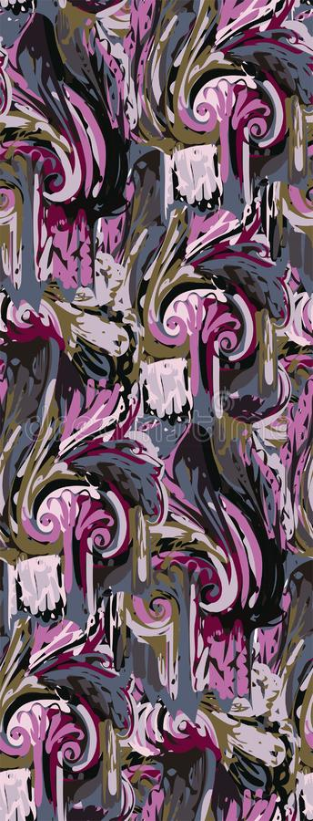 Violet purple abstract colorful  design flower art painting decoration wallpaper seamless pattern garden. Violet purple abstract colorful  design flower art vector illustration
