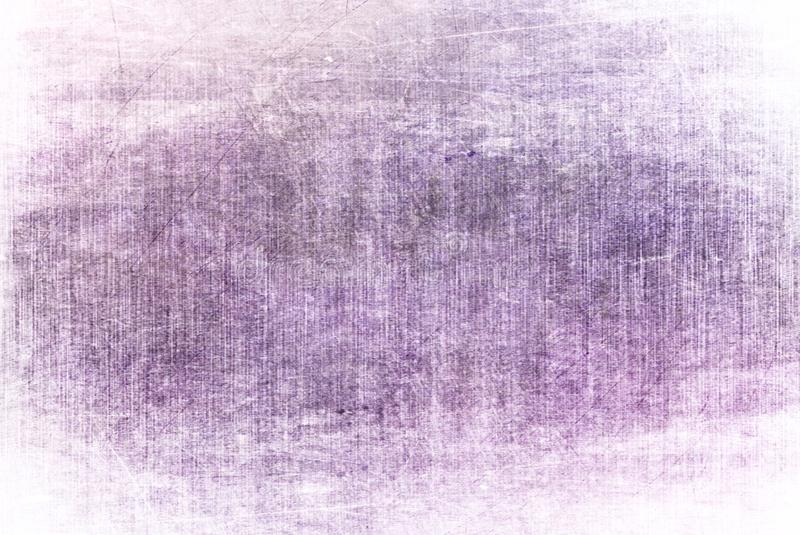 Light Purple Grunge Dark Cracked Rusty Distorted Decay Old Abstract Canvas Painting Texture Pattern Autumn Background Wallpaper royalty free illustration