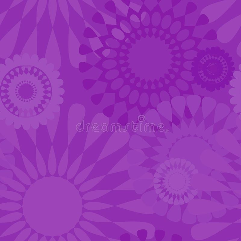 Violet purple Seamless Wallpaper Vector Random Pattern. Purple violet mandala patterns motive background seamless pattern texture vector wallpaper for home stock illustration