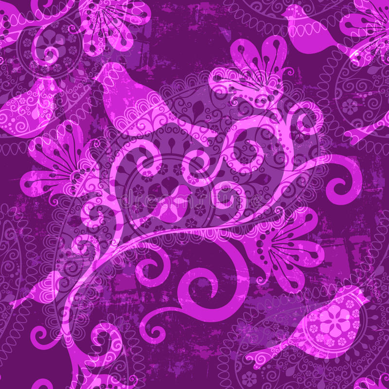 Violet repeating pattern royalty free illustration