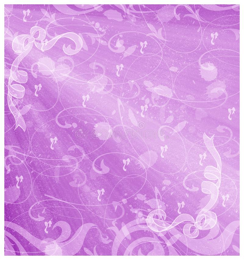 Violet Ribbons Background Stock Photo