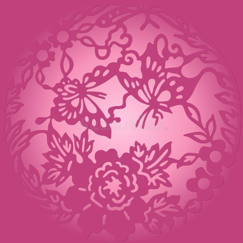 Violet rond ornament stock illustratie
