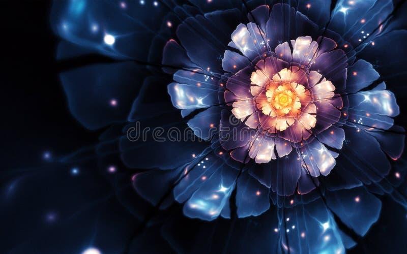 Violet rose flower and violet shaded textured background, vector illustration. many uses for backgrounds,paintings, b. Violet rose flower with  and violet shaded stock illustration