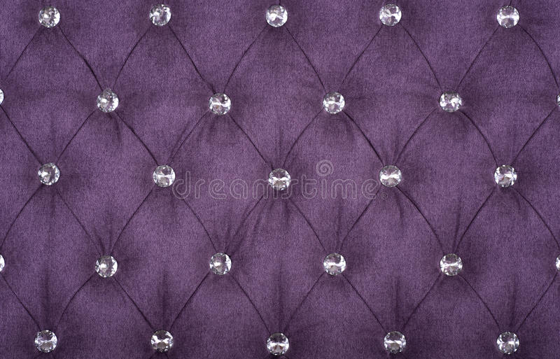 Violet sample of an upholstery of a sofa stock photo