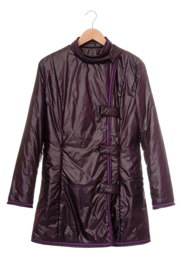 Violet short coat stock photos