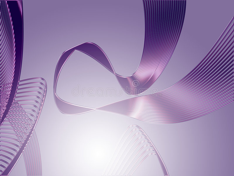 Violet silk ribbon. Silk ribbon of crossed lines and gradient color vector illustration