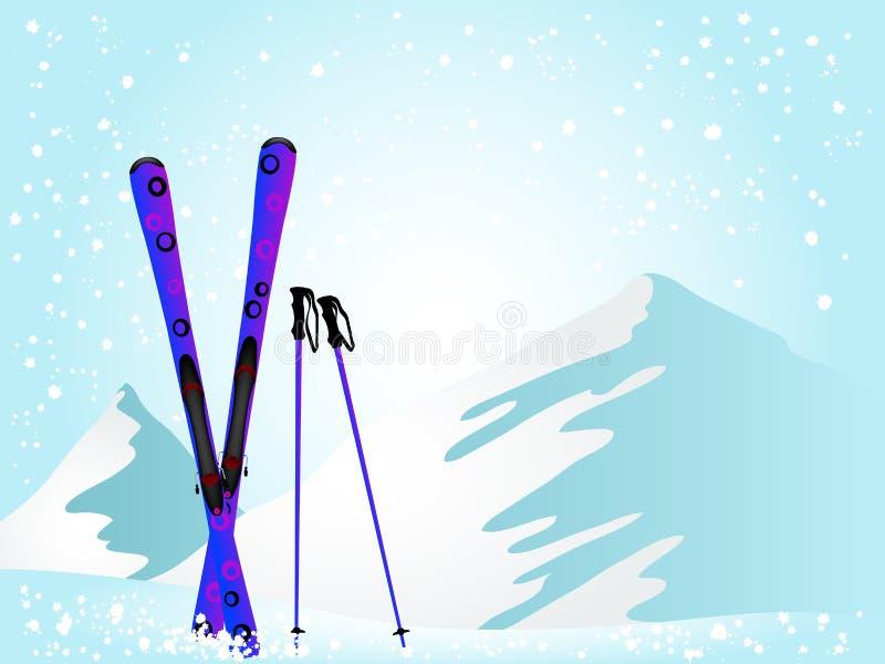 Download Violet ski stock vector. Illustration of active, cold - 22681147