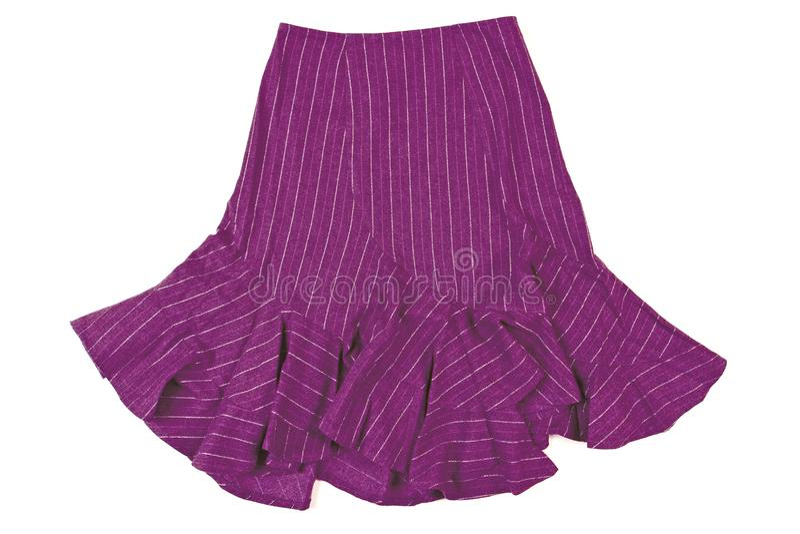 Violet skirt stock photos
