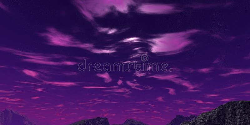 Violet sky vector illustration