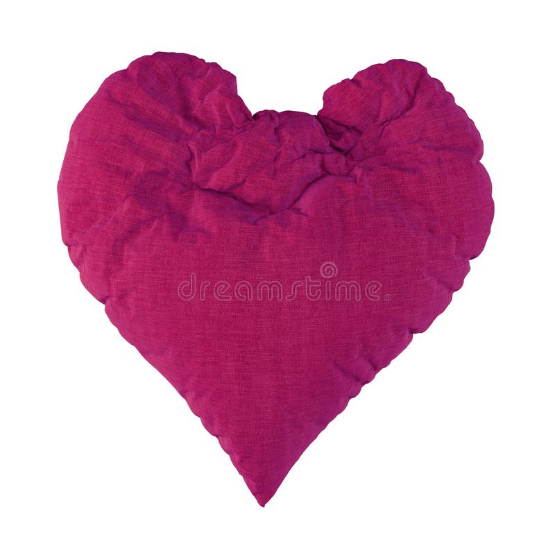 Violet soft hearty heart. 3d rendering royalty free illustration