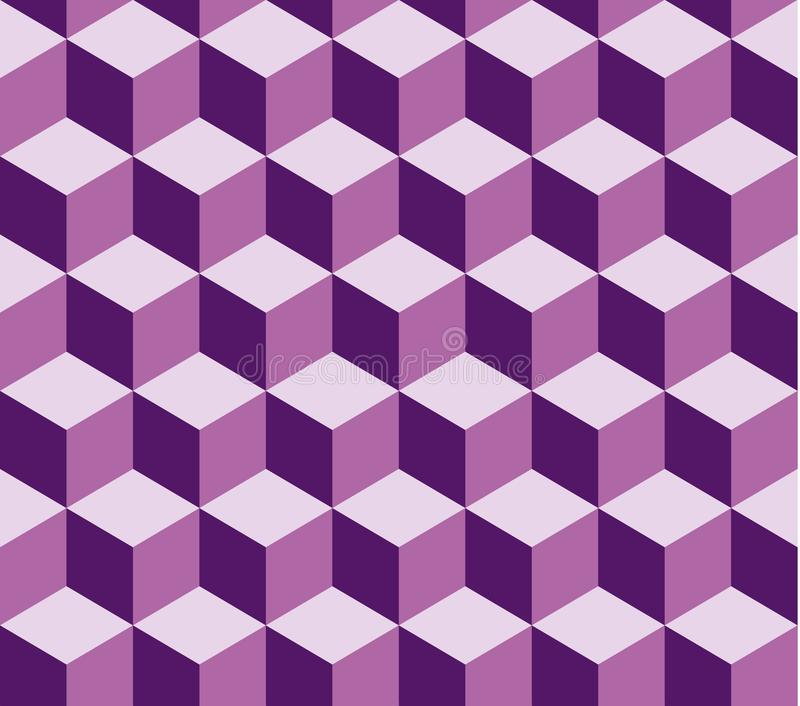 Violet square seamless vector pattern. Pattern included in swatch.  royalty free illustration