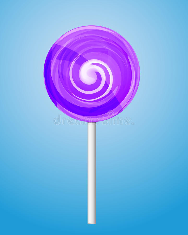 Violet suikergoed lolipop. vector illustratie