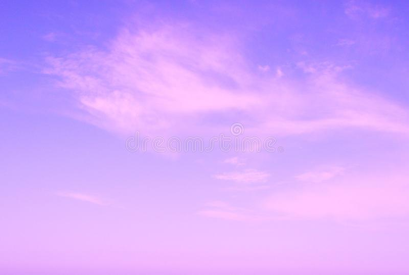 Download Violet Sun Rise Sky With Clouds Stock Image - Image: 13389817