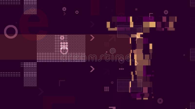 Violet Techno Background abstrata ilustração do vetor