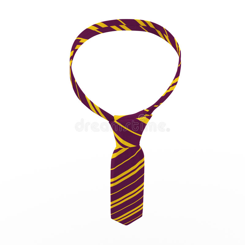 Violet Tie com tiras do amarelo, vestido de noite, isolado no branco ilustração 3D ilustração do vetor