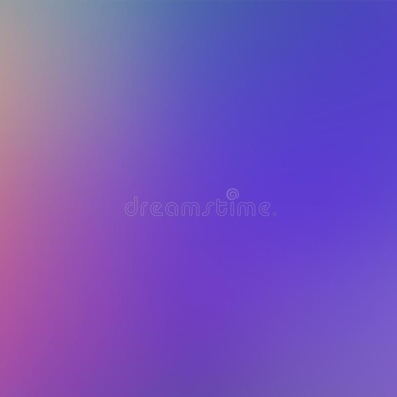 Violet Trendy Gradient Background ligera Contexto borroso suave Defocused ilustración del vector