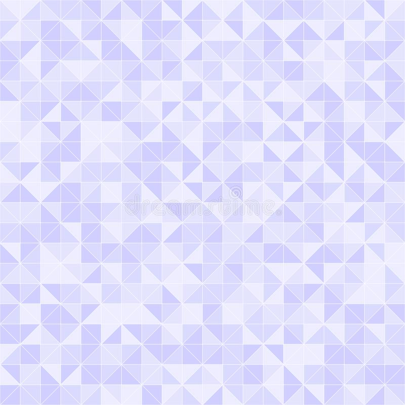 Violet triangle pattern. Seamless vector. Background - lilac right triangles on light lavender backdrop royalty free illustration