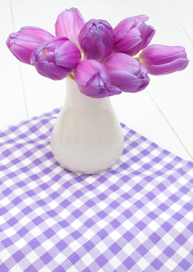 Download Violet Tulips stock image. Image of table, many, flowers - 24140417
