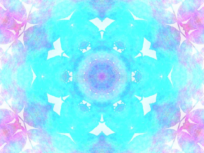 Violet and turquoise abstract watercolor - geometric texture royalty free stock photography