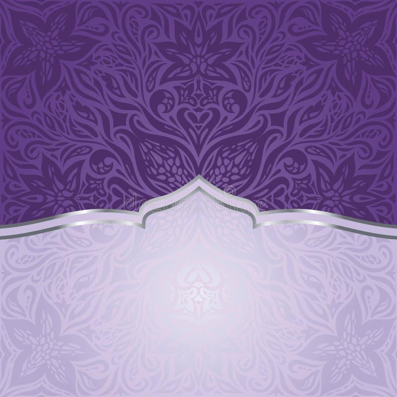 Violet uitstekend uitnodigingsontwerp stock illustratie
